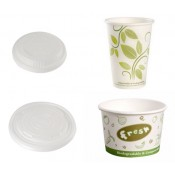 1). Compostable PLA Hot Paper Cup and CPLA Lid