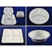 1). 100% Compostable Paper Pulp / Bagasse Container / Tray / Plate