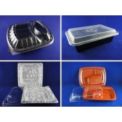 3). PP Rectangular Microwavable Container and Lid