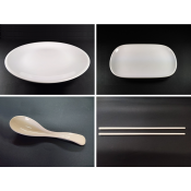 2). PLA Tableware Plate / Spoon / Chopsticks